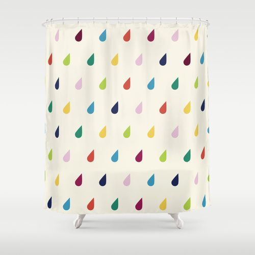 Raindrops Shower Curtain By Cute