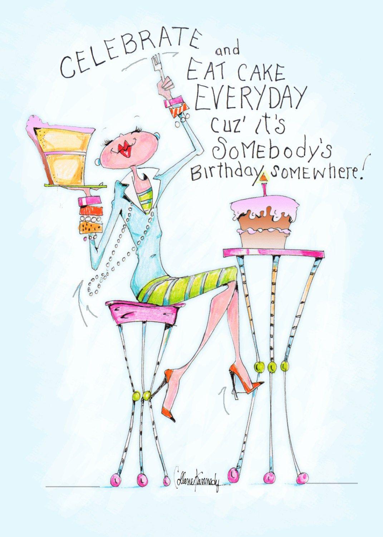 Funny birthday cards for women, women humor, birthday