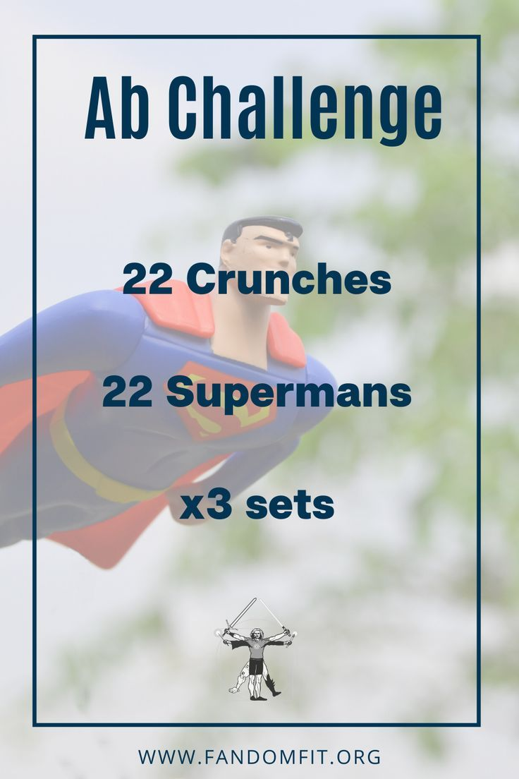 Try out this ab challenge to get abs of steel like the Man of Steel, Superman himself! FandomFit | F...