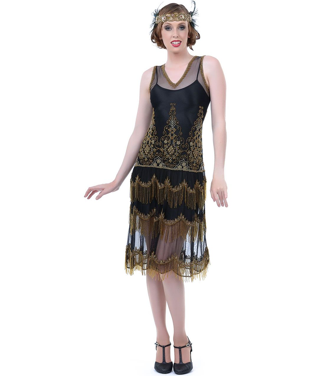Black and Gold Dress for Sale