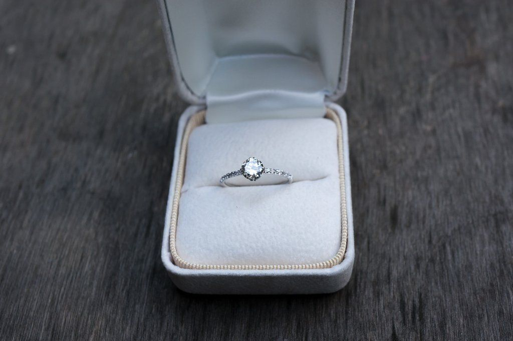 Diamond Compass Solitaire Engagement Ring by S. Kind & Co.