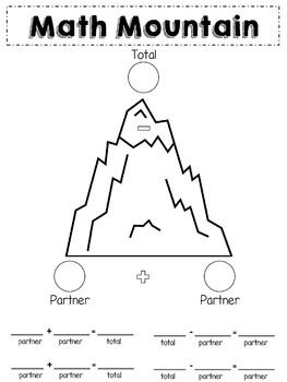 Math Mountain Posters Worksheets Math Math Expressions Worksheets
