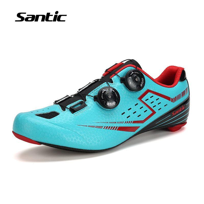 Santic Cycling Shoes Ultralight Microfiber Upper Carbon Fiber Sole Road Bike Shoes Self Lock Bicycle Shoes Zapatillas Cycling Shoes Bike Shoes Road Bike Shoes
