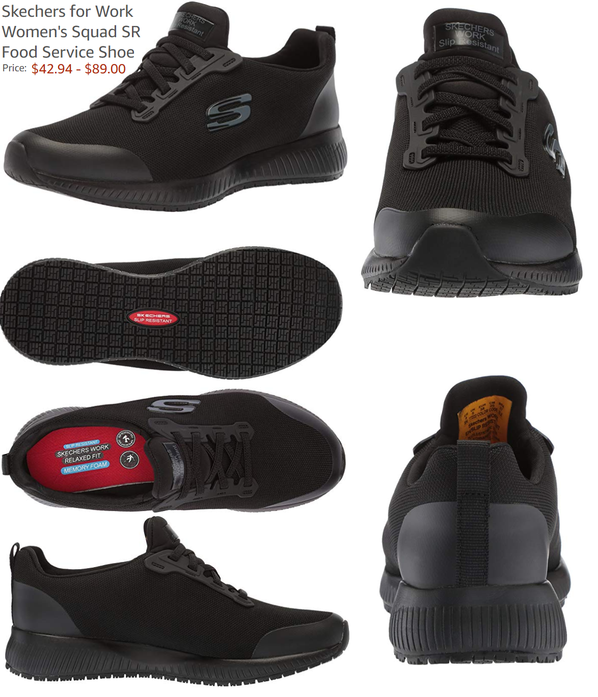 Misionero Día del Niño diario  Skechers for Work Women's Squad SR Food Service Shoe | Skechers women,  Skechers, Women