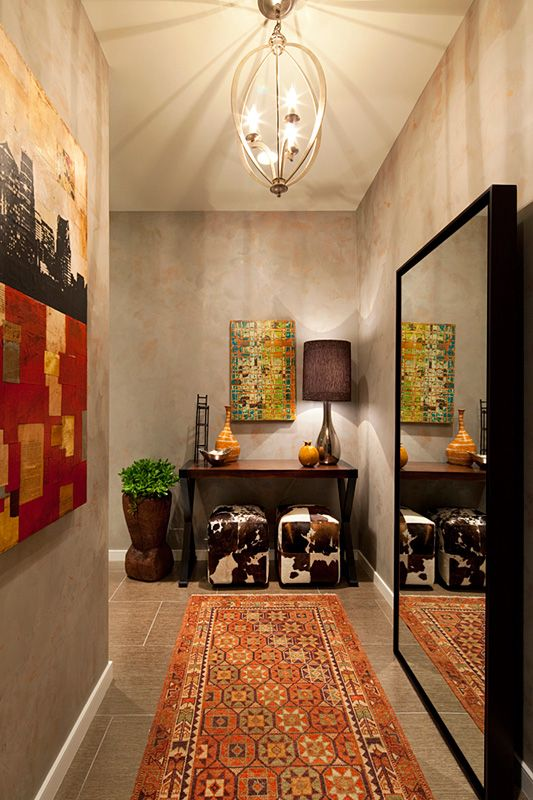 Global Chic Entry Hall By Austin Interior Design Firm Jessica