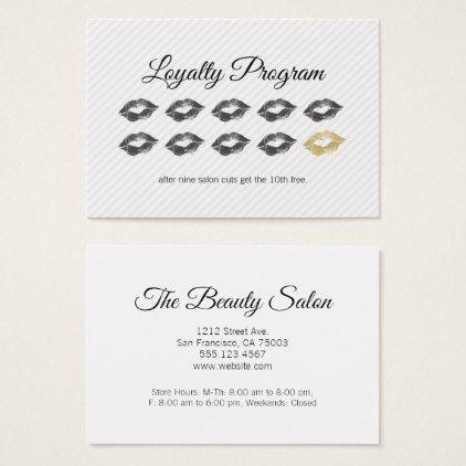 Loyalty Program Beauty Zazzle Com Business Cards Beauty Beauty Business Cards Beauty Business Cards Salons