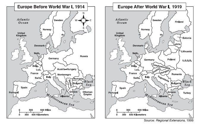 Europemapbeforeafterwwijpg Pixels World War - Europe map world war 1914