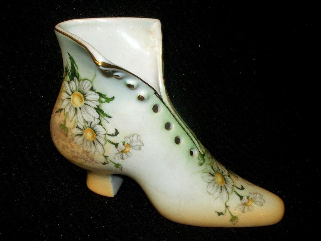Vintage victorian limoges porcelain shoe boot hat pin holder hand vintage victorian limoges porcelain shoe boot hat pin holder hand painted daisy reviewsmspy