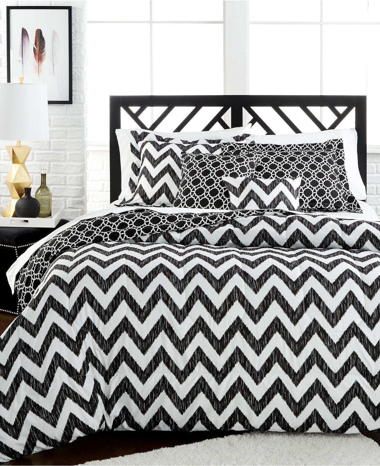bed black quilt full bag comforter linens a in bedding chevron flowered set teen sets and white girls