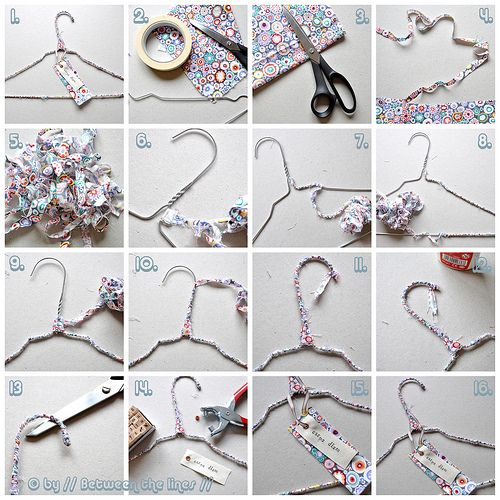 Enhanced Wire Clothes Hanger Perchas Decoradas Perchas