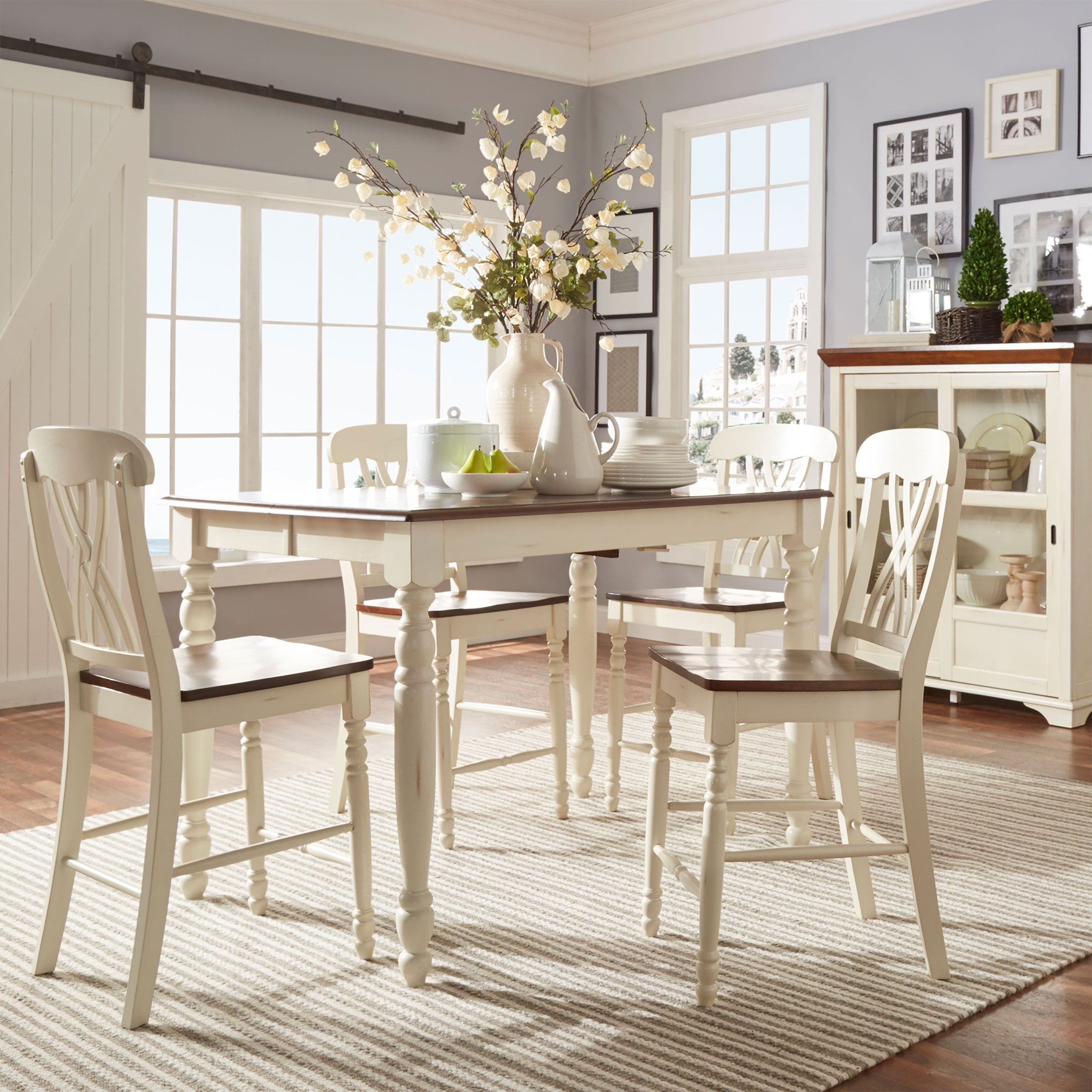 Country Kitchen Table Sets: Mackenzie Counter-height Extending Dining Set By INSPIRE Q