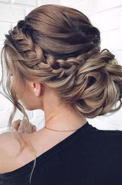 31 Elegant Updo Wedding Hairstyles For Long Hair 4 Fashion Stayles Fashion Braided Hairstyles For Wedding Fall Wedding Hairstyles Mother Of The Bride Hair
