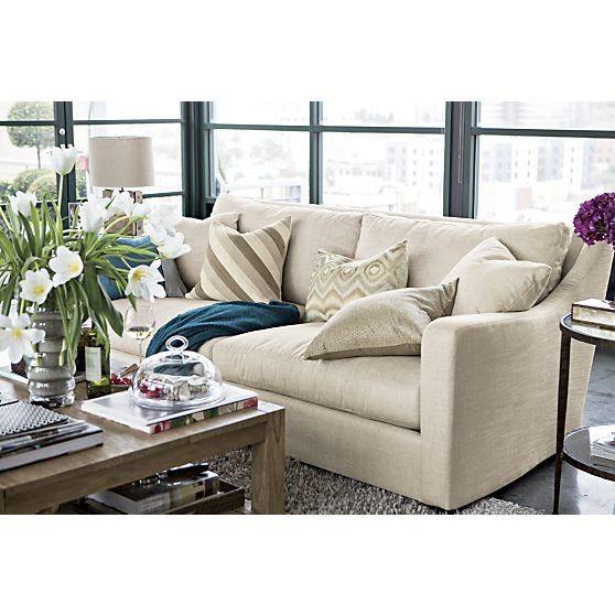 Verano sofa in sofas crate and barrel living rooms pinterest crates barrels and living for Crate and barrel living room