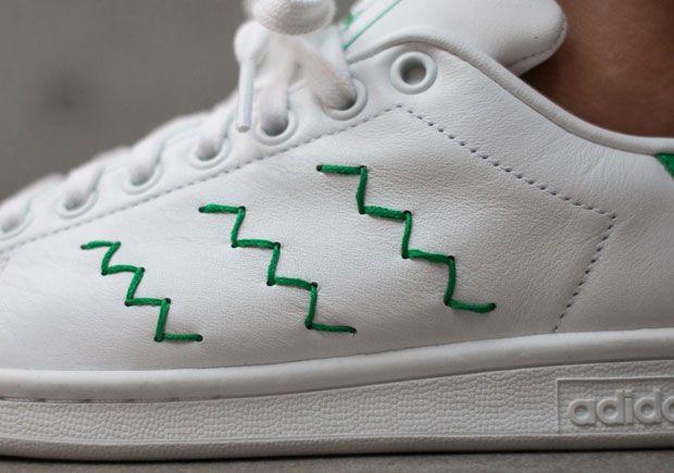 e22fe343738b Classic adidas Stan Smiths With A Twist On The Three Stripes ...