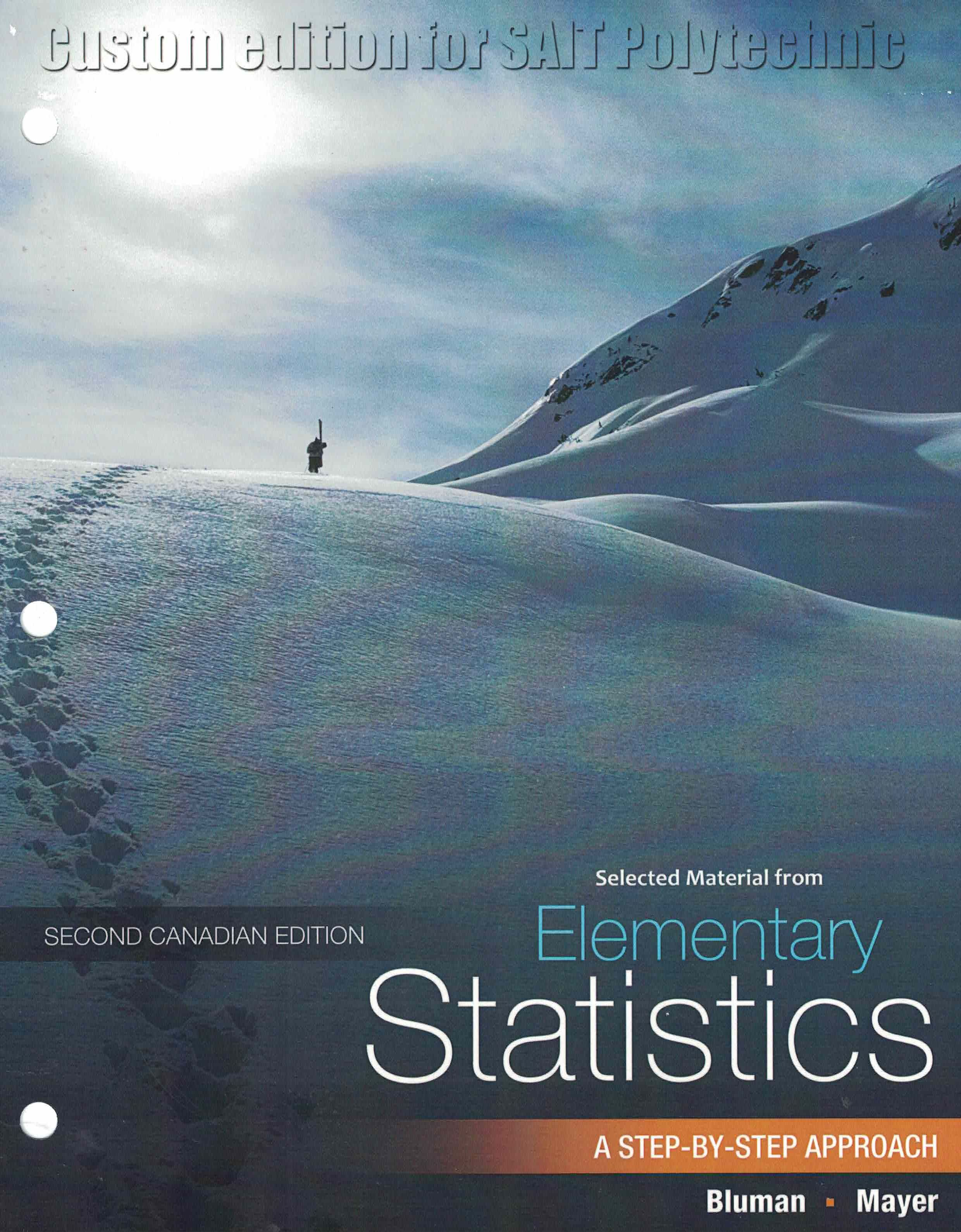 Elementary Statistics A Step By Step Approach Second Canadian
