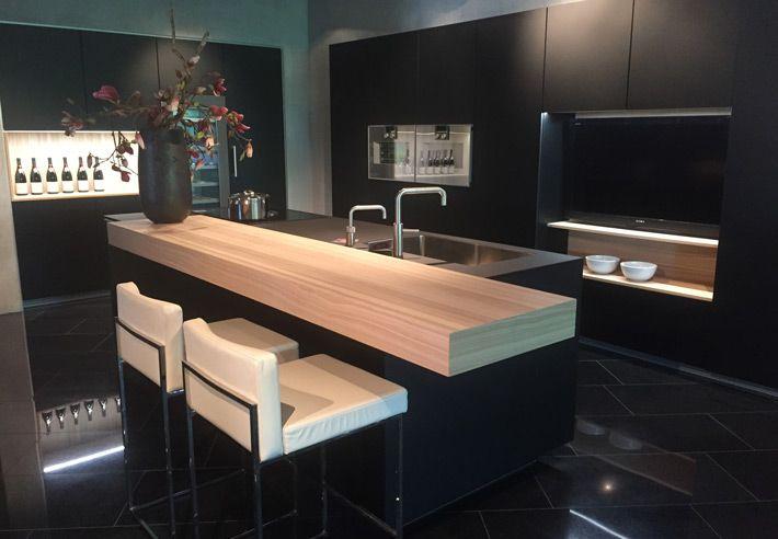 Eigen Huis Keukens : Donkere moderne keuken van poggenpohl eigenhuis keukens keukens