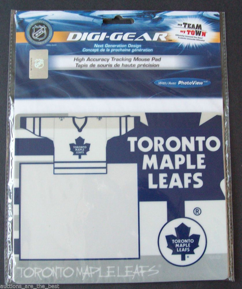 Toronto Maple Leafs Photoview Mouse Pad With White Jersey And Logo On Mouse Pad Myteammytowndigigear Toronto Maple Leafs Mouse Pad White Jersey