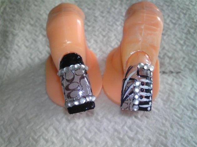 Deep Curved Nails Designs | Coach Nail Designs With shoes to match - Deep Curved Nails Designs Coach Nail Designs With Shoes To Match