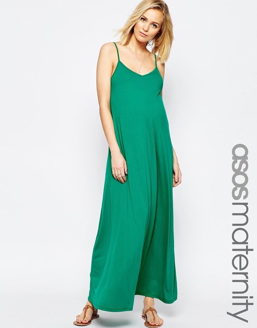 ASOS Maternity   ASOS Maternity Strappy Maxi Dress at ASOS