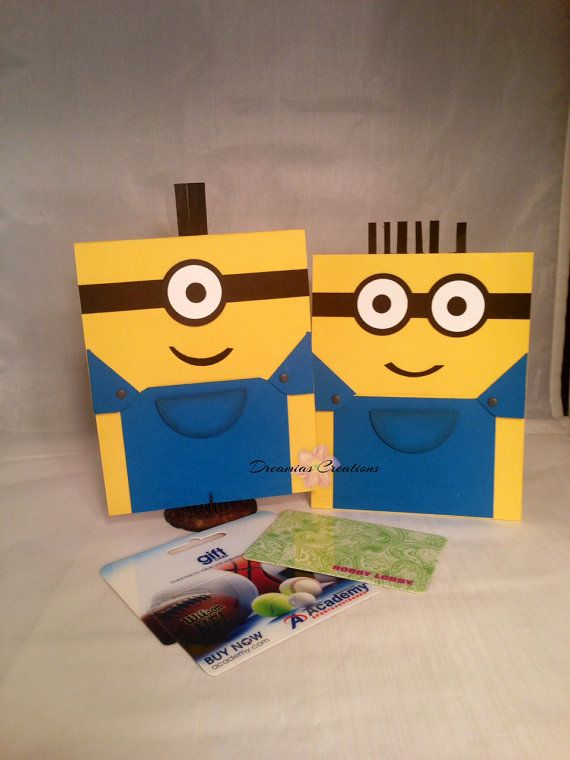 Set of 2 Minions Gift Card Holder  Etsy Cards and Gift