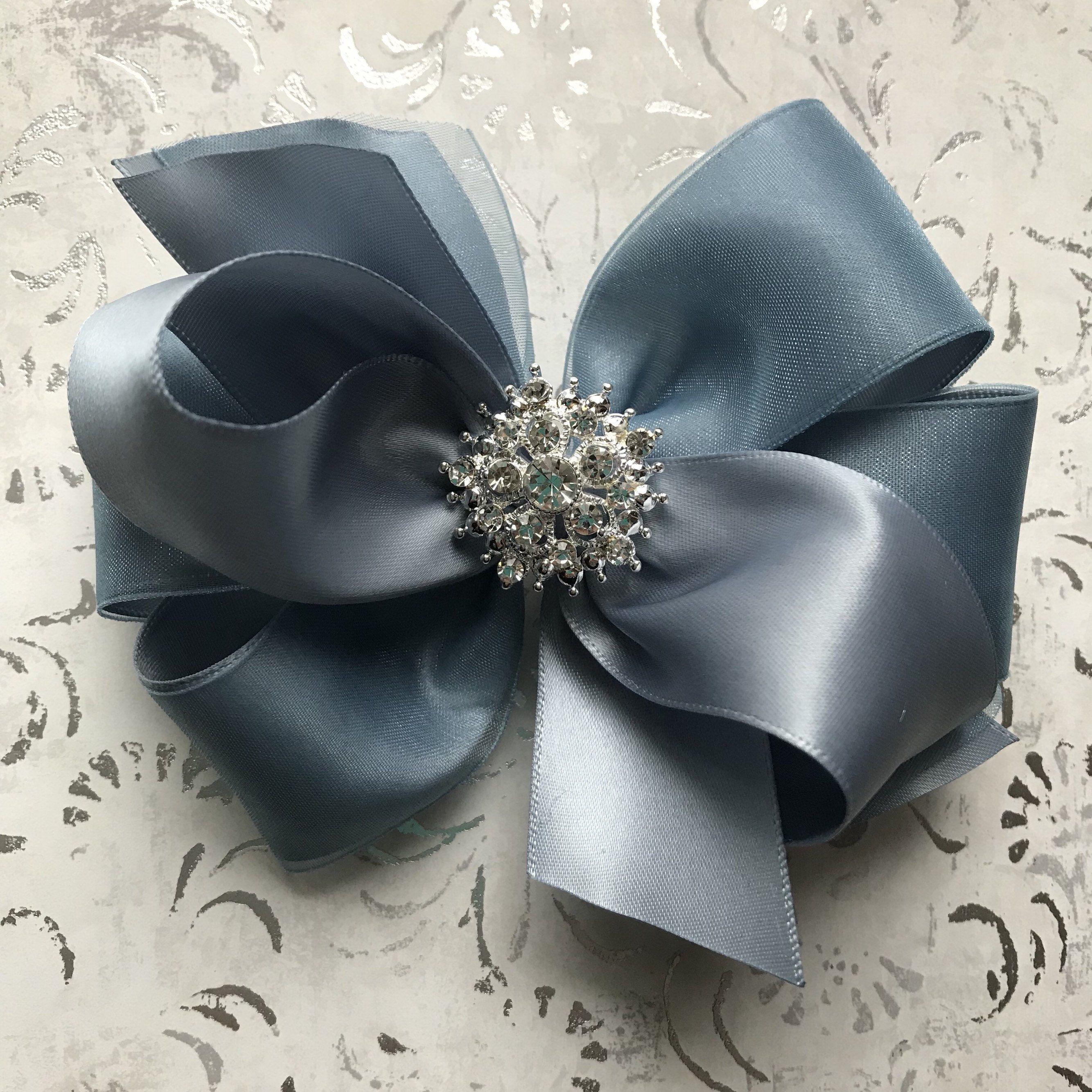 1x 8cm FABRIC FLOWER HAIR CLIP GRIP FUCHSIA PINK CREAM WHITE BLACK OR NAVY BLUE