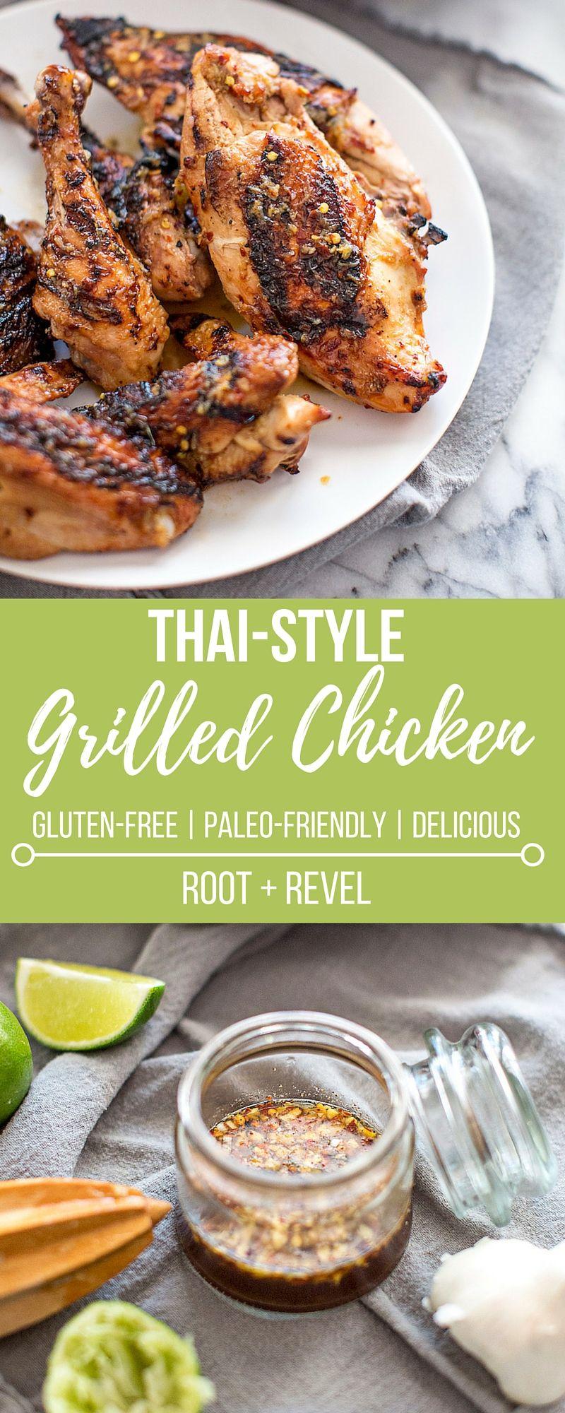 Thai grilled chicken recipe thai food recipes thai chicken thai grilled chicken thai food recipeshealthy dinner forumfinder Images