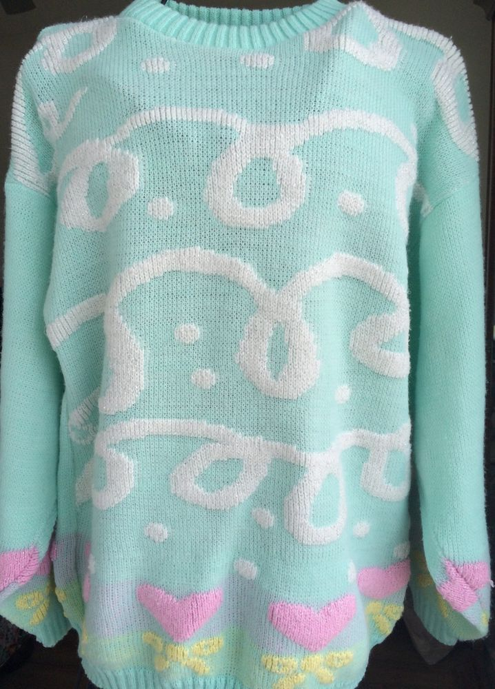Sparkly Blue Vintage Sweater p6jpvjCH