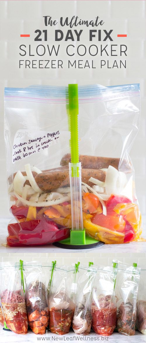 The Ultimate 21 Day Fix Slow Cooker Freezer Meal Plan Meal