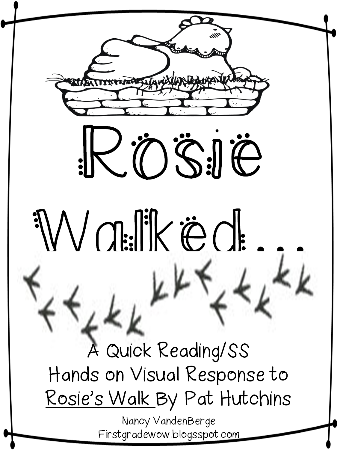 First Grade Wow Understanding Community Through Rosie S