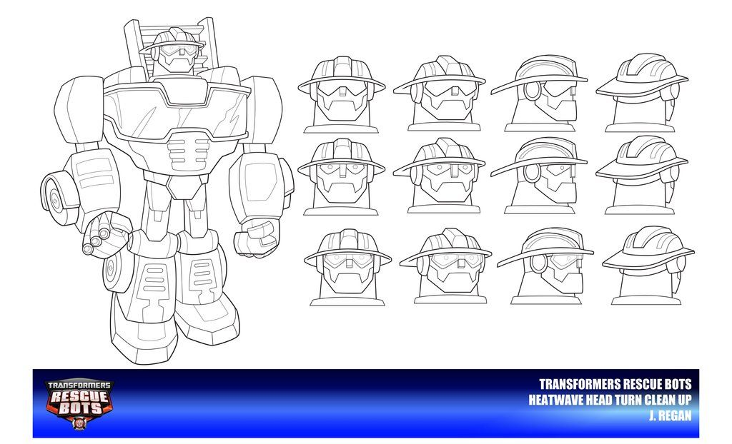 Rescue Bots Heatwave Head Turn Clean Up by thegreatjery.deviantart ...