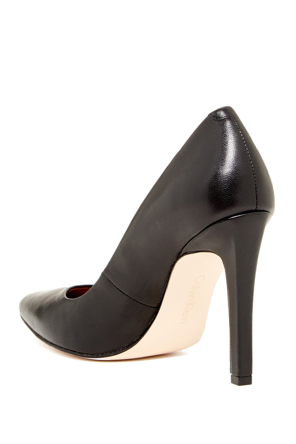 7b4c129a2ef Brady Leather Pointed Toe Pump - Wide Width Available by Calvin Klein on   nordstrom rack