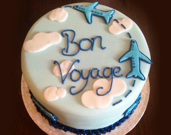 Cute Bon Voyage Cake Nice And Simple Bon Voyage Cake Going