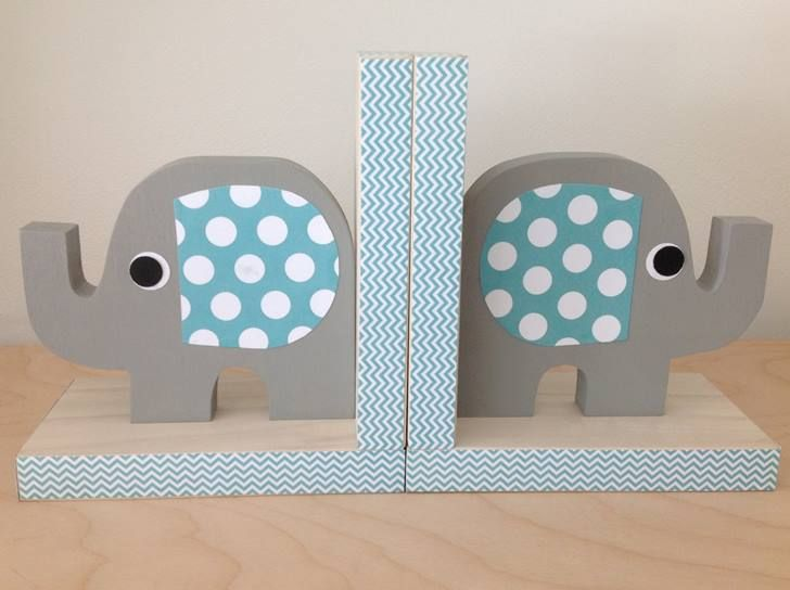 Very Cute Handcrafted Eco Friendly Elephant Bookends From Maple Shade Kids Add Some Order To The Bookshelf Kids Bookends Wooden Bookends Elephant Bookends