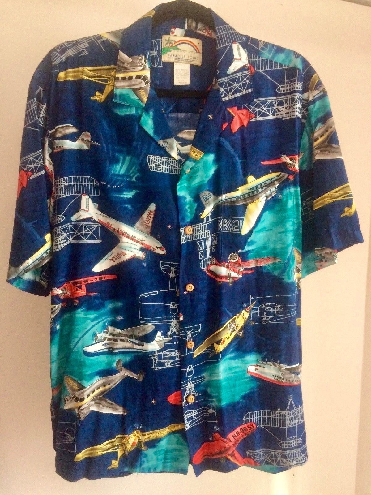 c88647e9 Magnum PI Paradise Found Stunning PanAm Clipper DC-3 Lindbergh Hawaiian size  M Rayon Reyn Spooner by SalvajeVintageSupply on Etsy