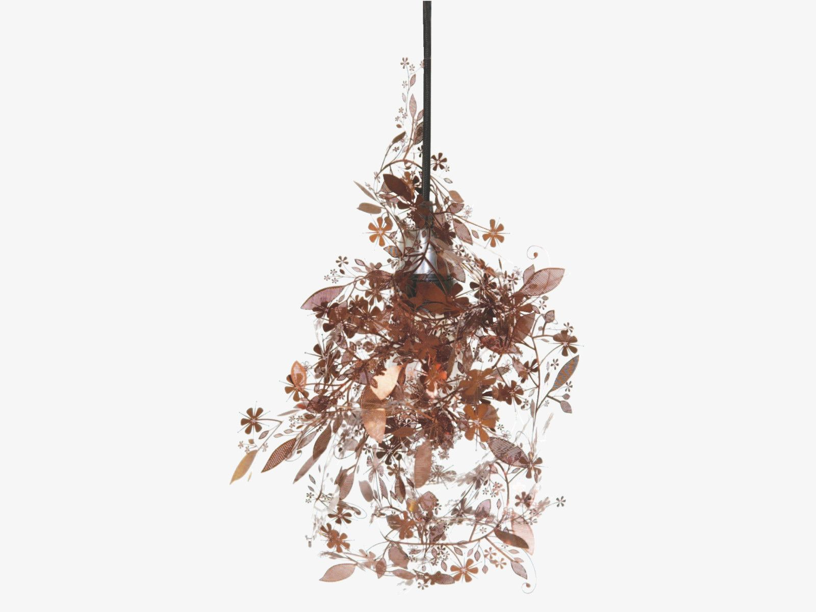GARLAND METALLIC Metal Copper etched metal floral ceiling light shade - HabitatUK