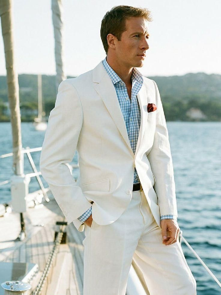 White Linen Blazer Custom Made Linen Suit ,Sharp Look Tailored ...