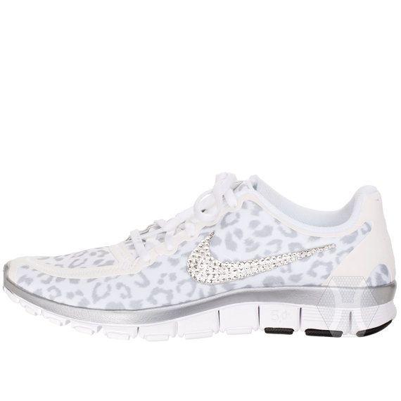 ac9c9cfa23c45 SALE Women's Nike Free 5.0 v4 White Wolf Cheetah / Leopard with ...