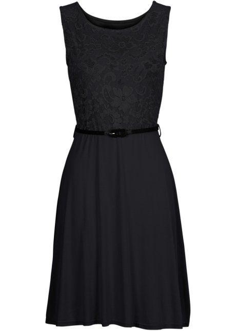 Shirtkleid mit Spitze   Kleider, Kleid schwarz spitze und ...