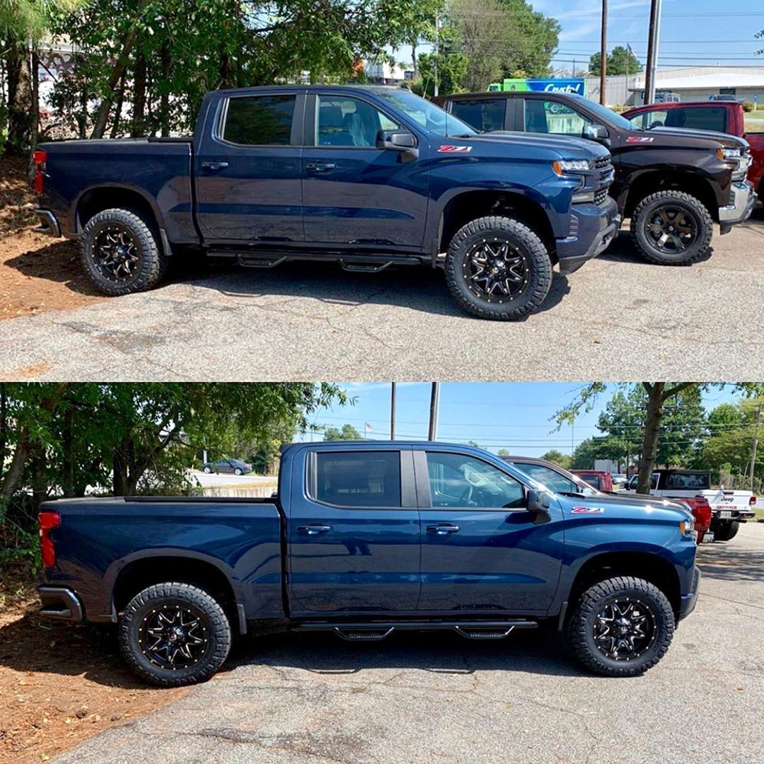 A Pair Of Brand New 2020 Chevy Silverado 1500s That 4wp Marietta Just Wrapped Up With Our Readylift 4 Sst Lift Kits Chevy Silverado New Chevy Truck Silverado