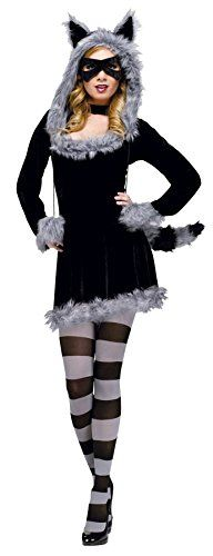 Racy Raccoon Costume  SmallMedium  Dress Size 28 * Details can be found by clicking on the image.