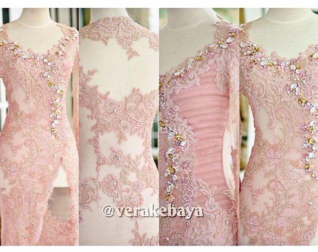 Vera Kebaya 26 Peach Kebaya Kebaya Dress Kebaya Kebaya Bali