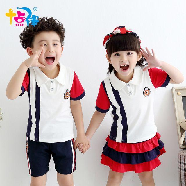 93b89c3dfef19 Juego de ropa para niños niñas de la escuela de tenis niños deportes traje  uniformes de verano edad niños tamaño 6 7 8 9 10 11 12 15 16 años