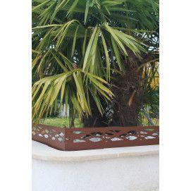 Bordure De Jardin En Acier Galvanise Brut Ajouree H 18 Ou 25 Cm
