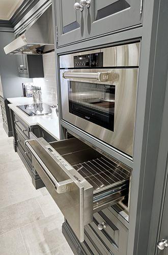 Luxury Grey Kitchen #greykitchendesigns