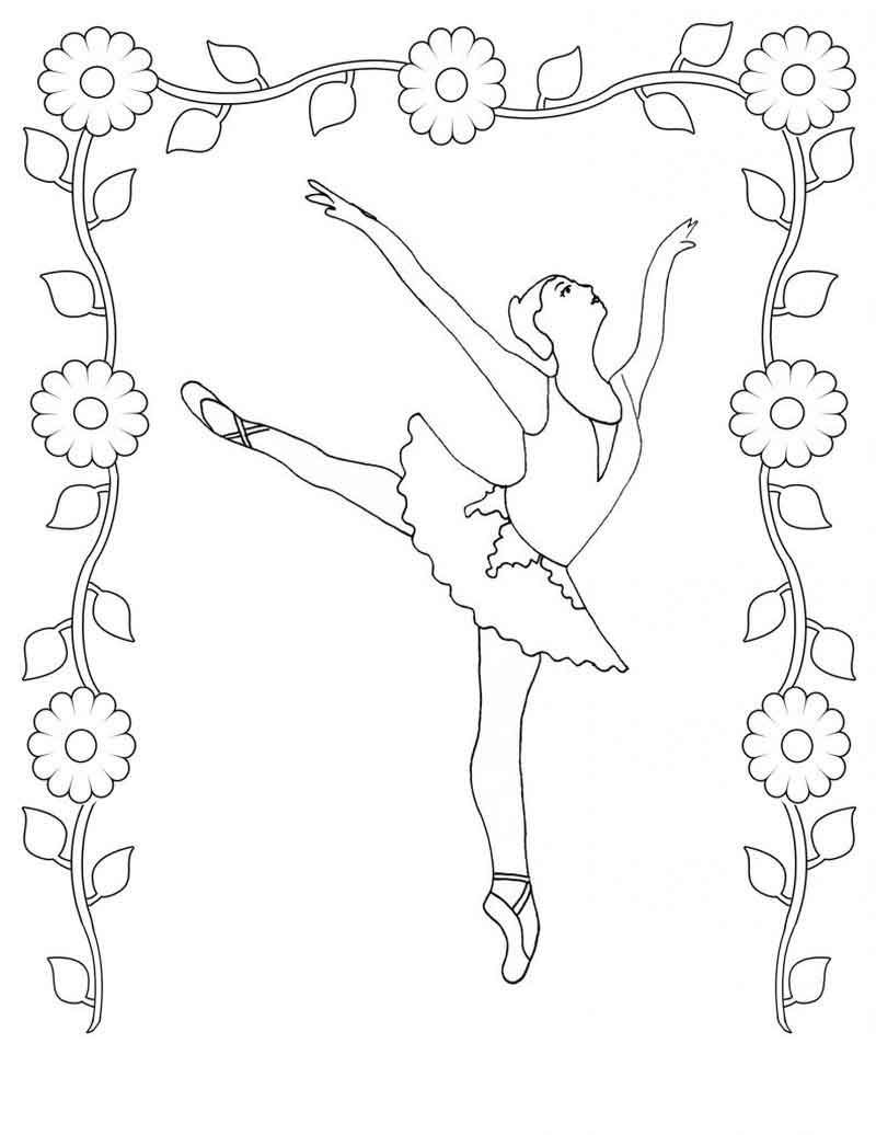 Ballet Dancer Coloring Pages From Ballet Coloring Pages Category