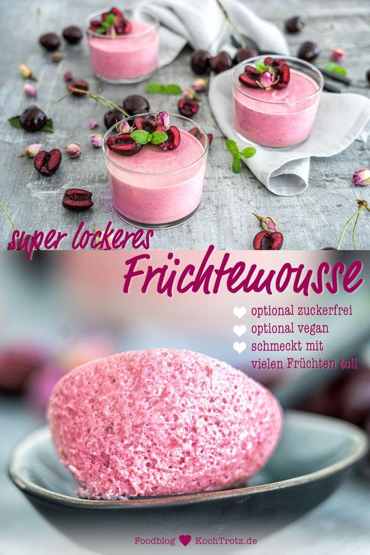 Photo of Kirschmousse | Grundrezept für Fruchtmousse – KochTrotz | kreative Rezepte
