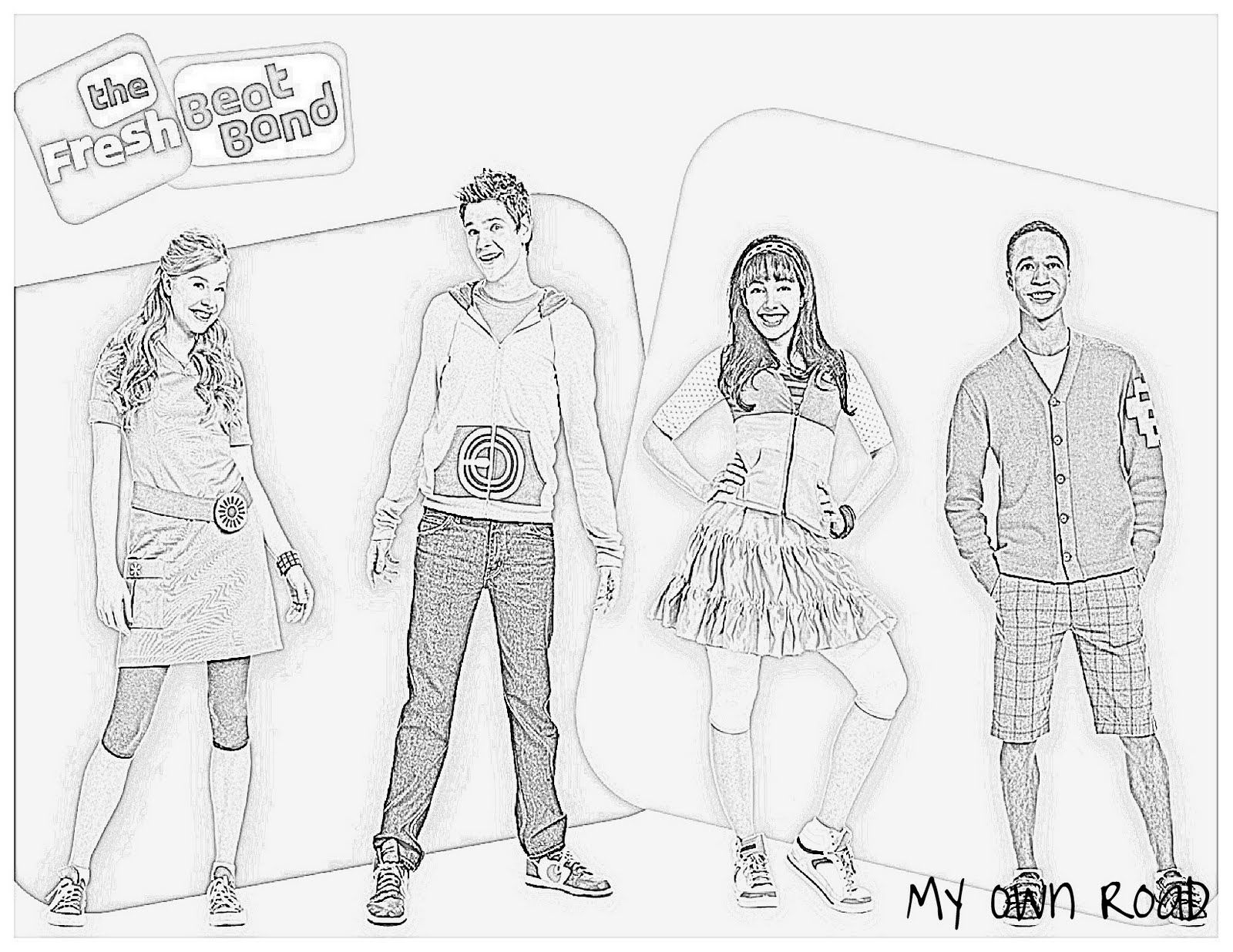 fresh beat band coloring pages # 3