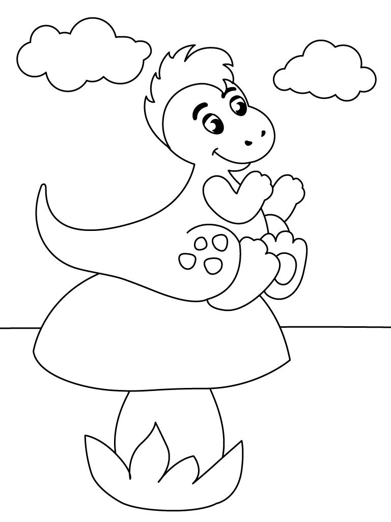 Coloring Book Dino Baby For Ipad Coloring Books Color Educational Printables
