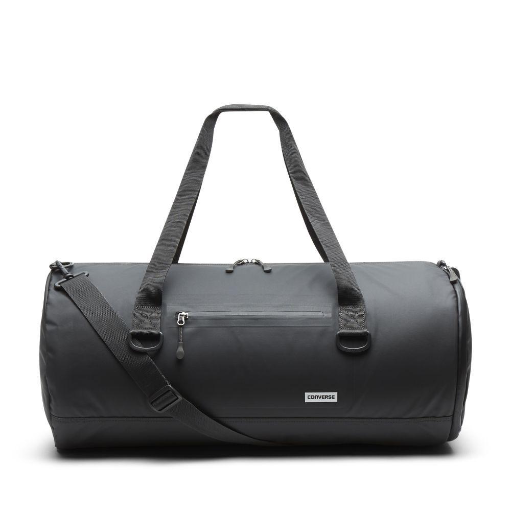 Converse Large Rubber Petrol Teak Duffel Bag (Black) | Black