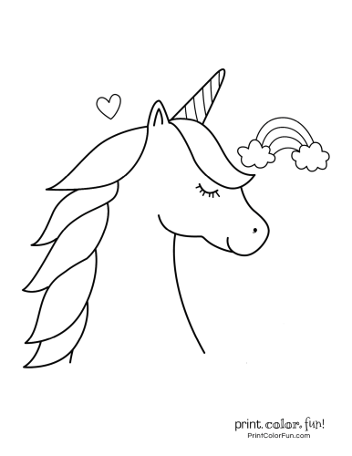 100 Magical Unicorn Coloring Pages The Ultimate Free Printable Collection At Print Color Fun Com Unicorn Coloring Pages Coloring Pages Unicorn Outline